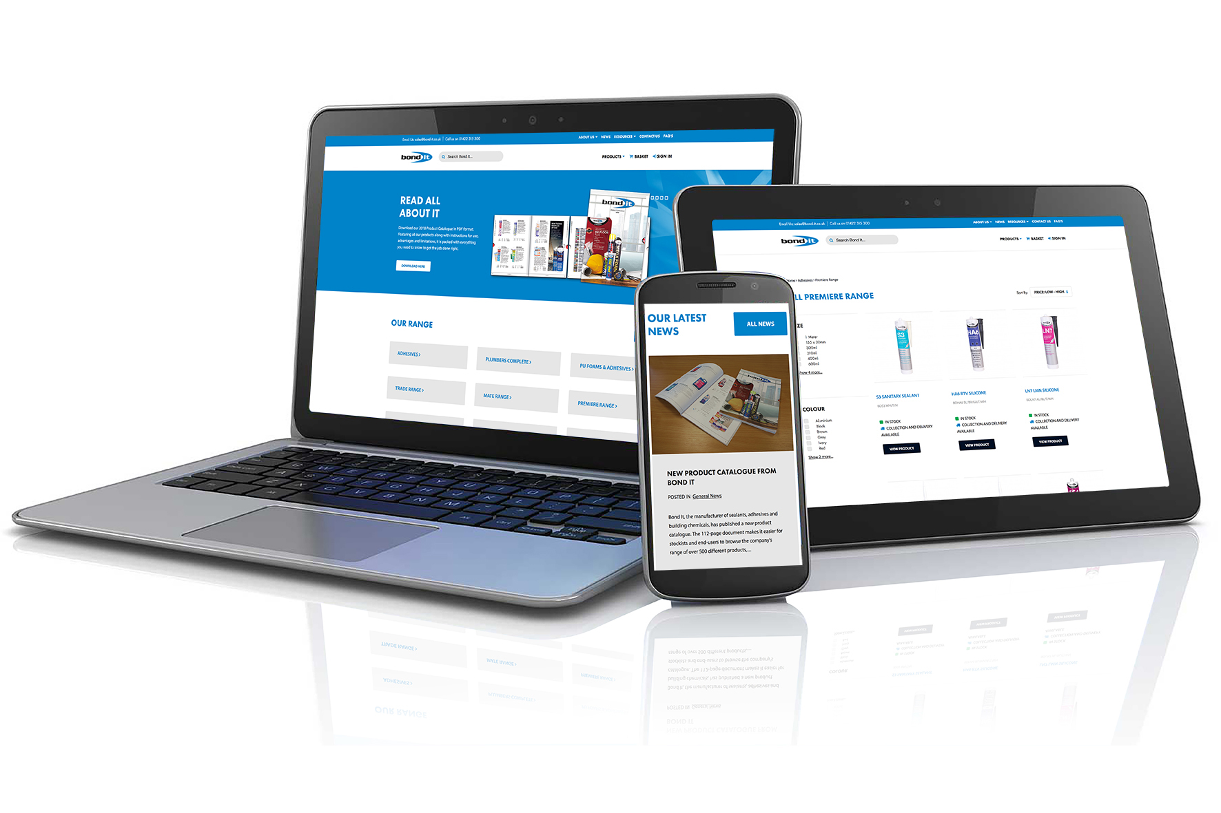 Next generation resource. Bond It, the manufacturer of sealants, adhesives and building chemicals, has revamped its online presence with the launch of a new e-commerce enabled website.