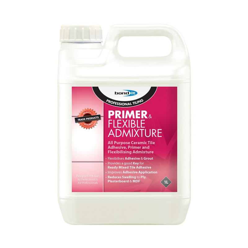 Primer Flexible Admix An Acrylic Dispersion For Use As A Primer Prior To Tiling Or As An Additive To Cement Based Tiling Products To Improve Adhesion And Flexibility