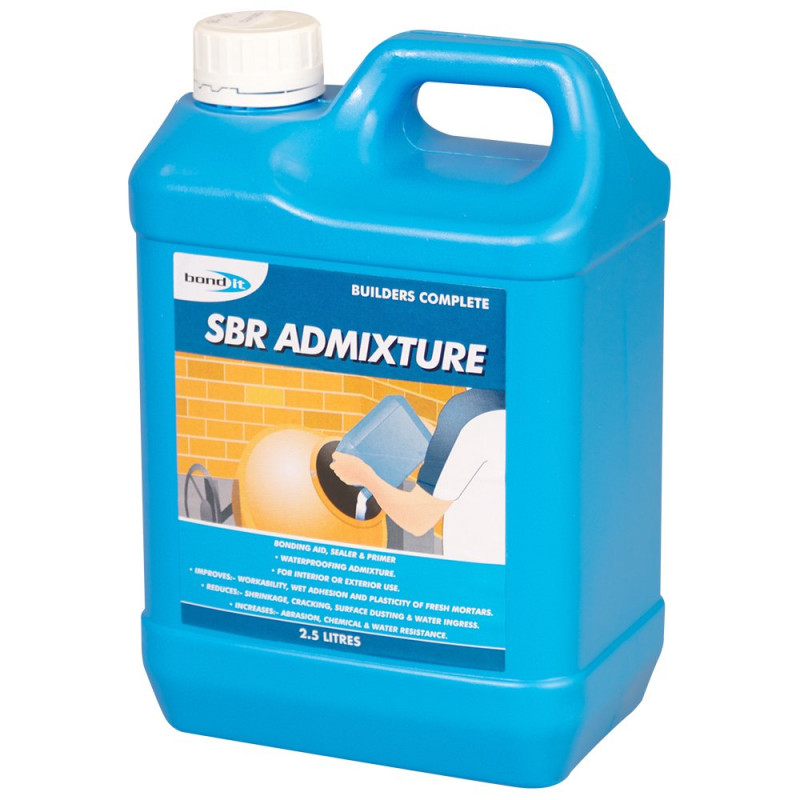 SBR Admixture A styrene butadiene copolymer latex, which