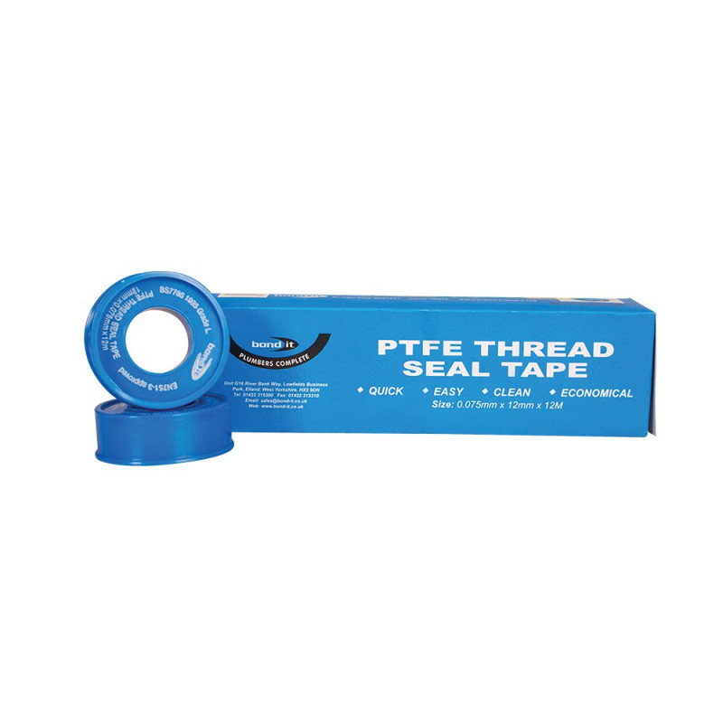 Threadseal PTFE Tape A Non Adhesive Plumbers PTFE Tape
